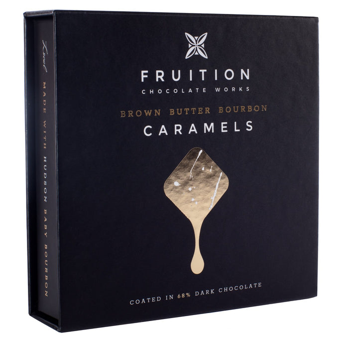 Brown Butter Bourbon Caramels - Fruition Chocolate