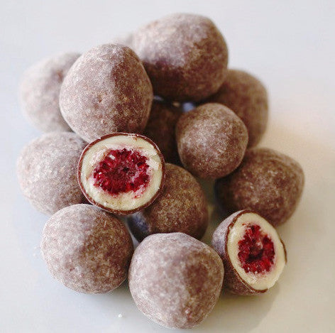 Chocolate Tumbled Raspberries - Fruition Chocolate