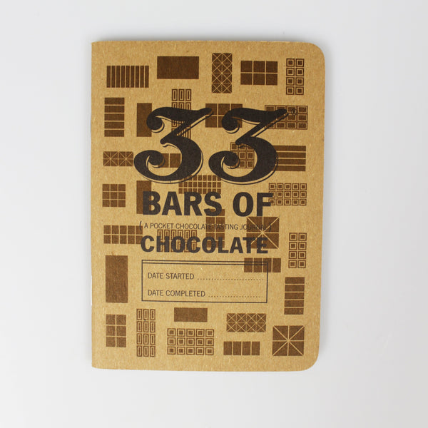 33 Bars of Chocolate Tasting Book - Fruition Chocolate