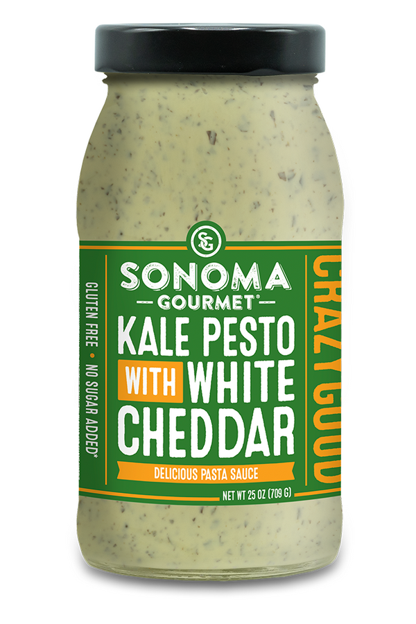 Sonoma Gourmet Kale Pesto with White Cheddar Sauce - Fruition Chocolate