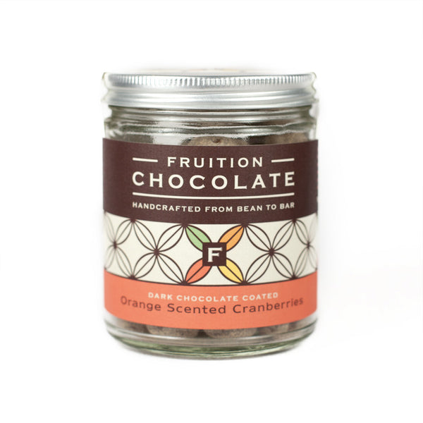 Chocolate Coated, Orange Scented Cranberries - Fruition Chocolate