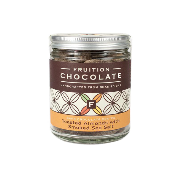 Chocolate Coated Toasted Almonds with Smoked Sea Salt - Fruition Chocolate
