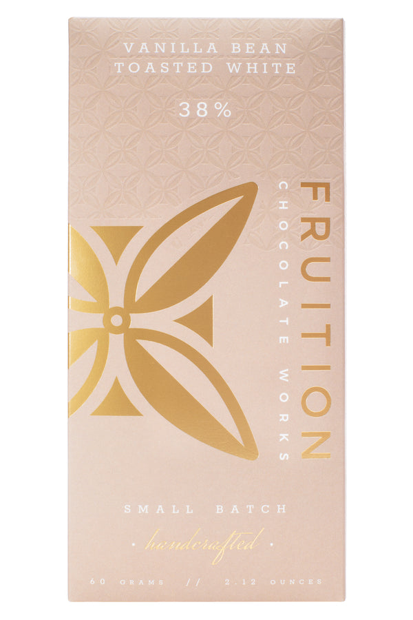 Vanilla Bean Toasted White 38% - Fruition Chocolate