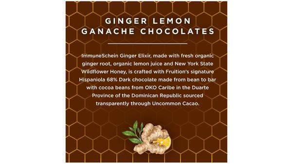 Ginger Lemon Chocolate Ganache Confections - Fruition Chocolate