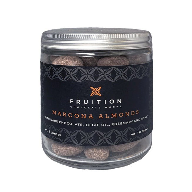 Marcona Almonds with Rosemary & Olive Oil - Fruition Chocolate