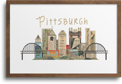 Pittsburgh Horizontal Skyline Print & Notecards