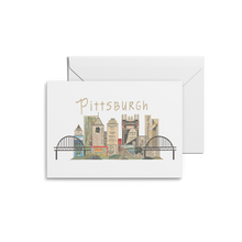 Load image into Gallery viewer, Pittsburgh Horizontal Skyline Print & Notecards