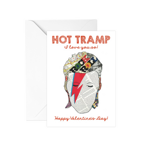 David Bowie Valentine's Day Greeting Card