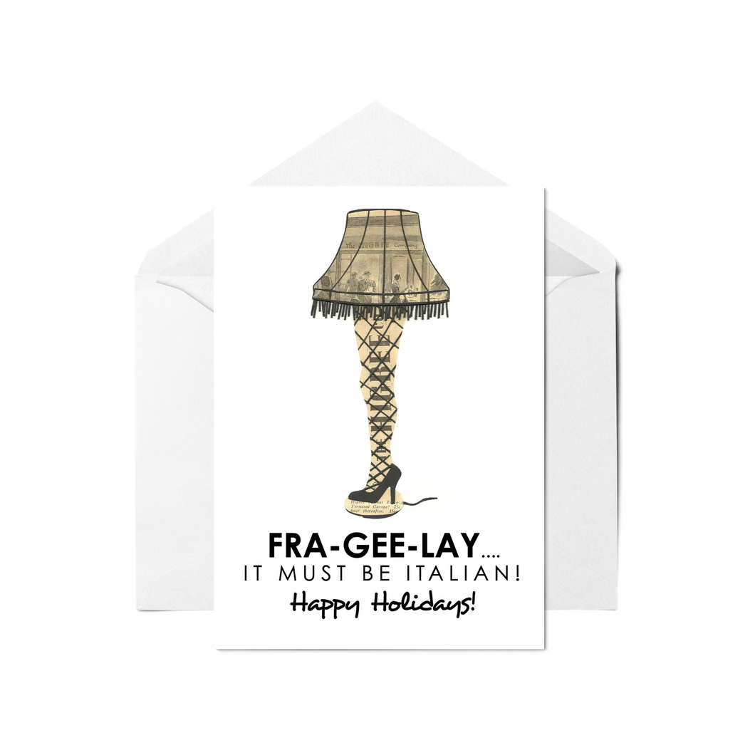 Leg Lamp Christmas Story Greeting Card & Notecards