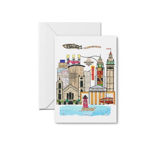 Cleveland Skyline - Art Museum Notecards