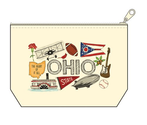 Ohio Canvas Pouch