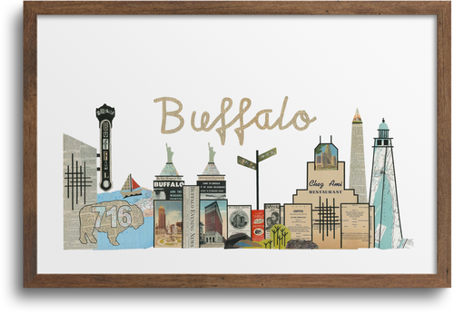 Buffalo, New York Skyline Print & Notecards