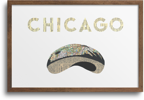 Chicago Bean Print & Notecards