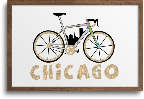 Chicago Bike Print & Notecards