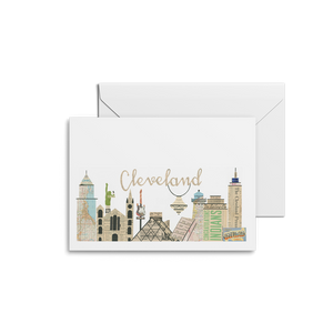 Cleveland Skyline with Chandelier Notecards