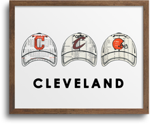 Load image into Gallery viewer, Cleveland Sport Team Hats Prints & Notecards