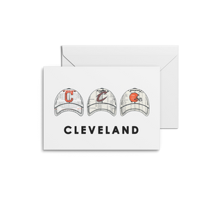 Cleveland Sport Team Hats Prints & Notecards