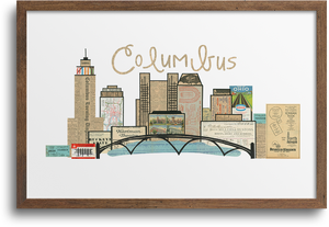 Columbus Ohio Skyline Print & Notecards