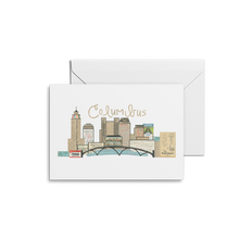 Load image into Gallery viewer, Columbus Ohio Skyline Print & Notecards