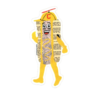 Cleveland Indians - Hot Dogs Sticker (Mustard)