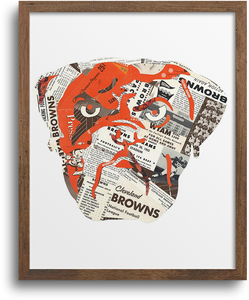 Cleveland Browns Dawg Prints & Notecards