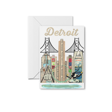 Load image into Gallery viewer, Detroit Skyline Print & Notecards