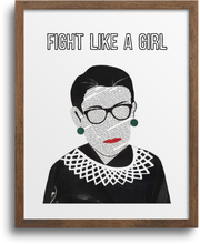 Load image into Gallery viewer, RBG - Fight Like a Girl Prints & Notecards