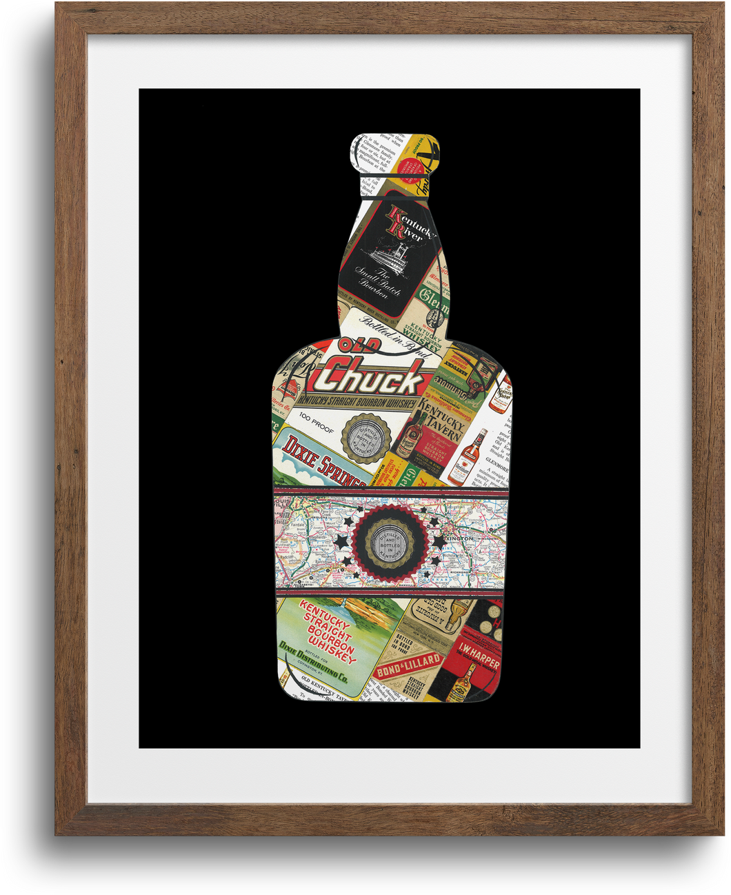 Bourbon Bottle Print & Notecards