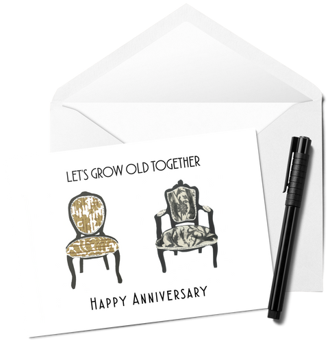 Let's Grow Old Together Anniversary Card