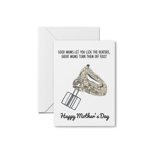 Lick The Beaters! - Mother's Day Card