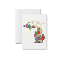 Load image into Gallery viewer, Michigan Map Prints & Notecards