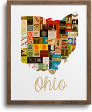 Load image into Gallery viewer, Ohio Map Prints & Notecards