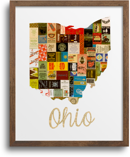 Ohio Map Prints & Notecards