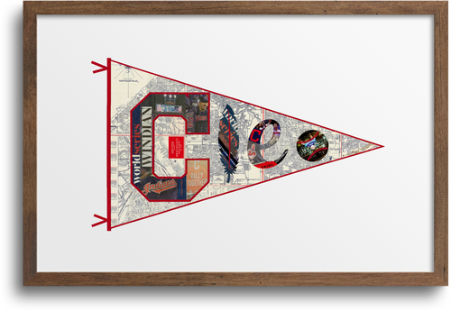 Cleveland Indians Pennant Prints & Notecards
