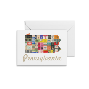 Pennsylvania Map Prints & Notecards