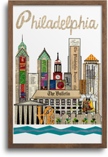 Load image into Gallery viewer, Philadelphia Skyline Print & Notecards