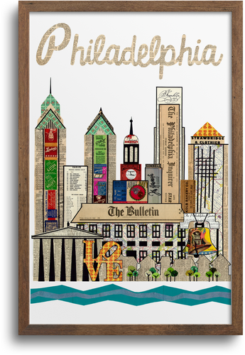 Philadelphia Skyline Print & Notecards