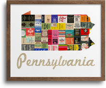 Load image into Gallery viewer, Pennsylvania Map Prints & Notecards