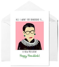 Load image into Gallery viewer, RBG - All I Want for Hanukkah Card