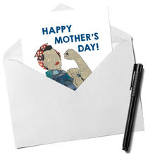 Load image into Gallery viewer, Rosie the Riveter Mother's Day Card