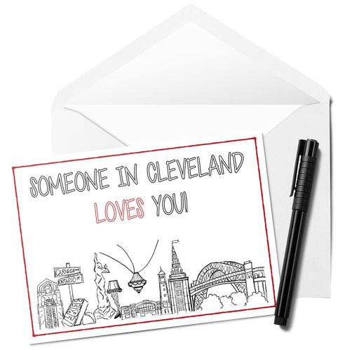 Someone in Cleveland Loves You Card