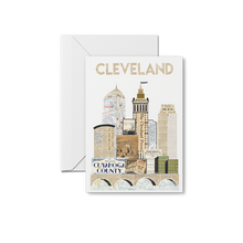 Load image into Gallery viewer, Traditional Cleveland Skyline Special Edition Print & Notecards