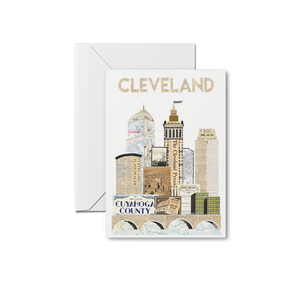 Traditional Cleveland Skyline Special Edition Print & Notecards