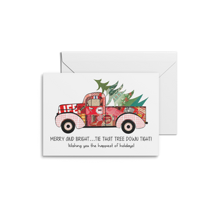 Red Truck Happy Holidays Card