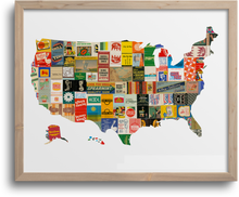 Load image into Gallery viewer, USA Map Prints & Notecards