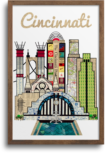 Cincinnati Skyline Print & Notecards