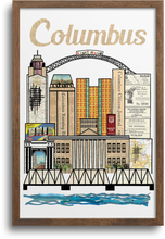 Load image into Gallery viewer, Columbus Vertical Skyline Print & Notecards