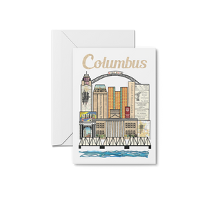 Columbus Vertical Skyline Print & Notecards