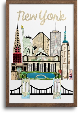 New York City Skyline Print & Notecards