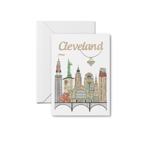 Cleveland Skyline Westside Market Notecards
